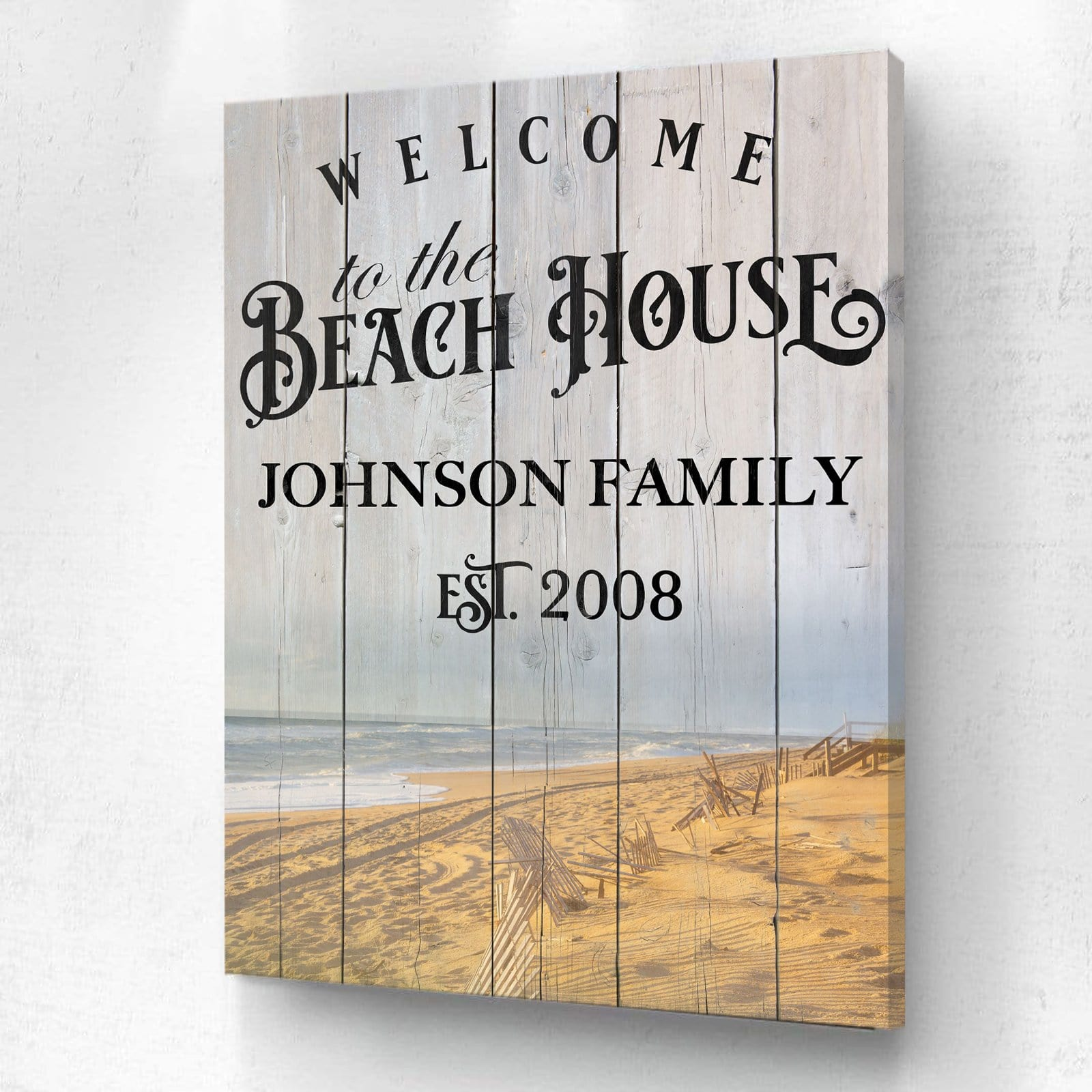 Welcome To The Beach House - Personalized