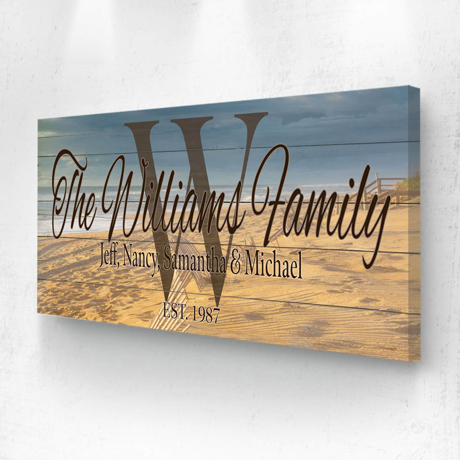 Customized Family Name Ocean Sign - Personalized