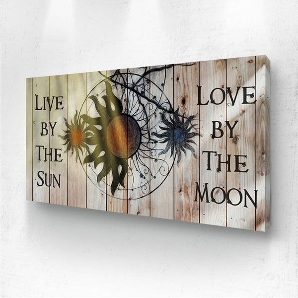 Sun and Moon - Wood Grain