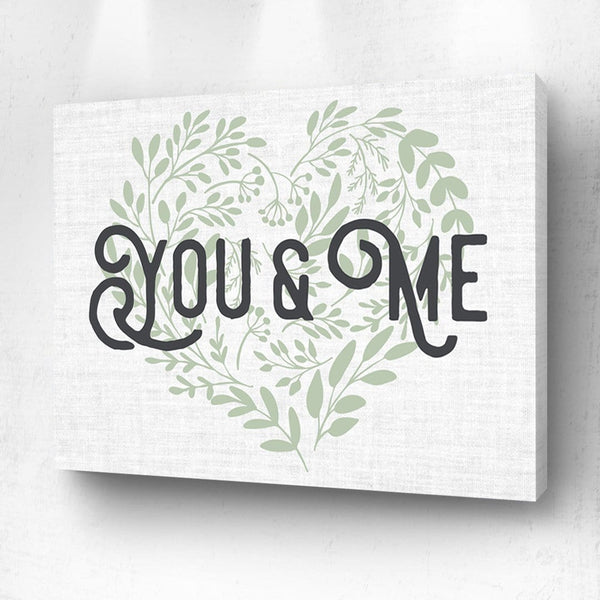 You and Me Green Floral