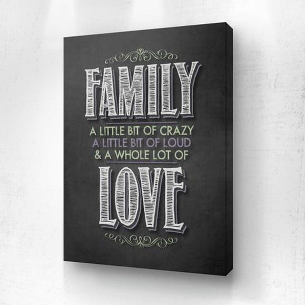 Funny Crazy Family Canvas