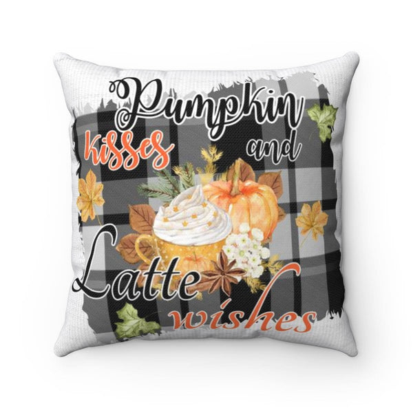 Pumpkin Kisses & Latte Wishes Pillow