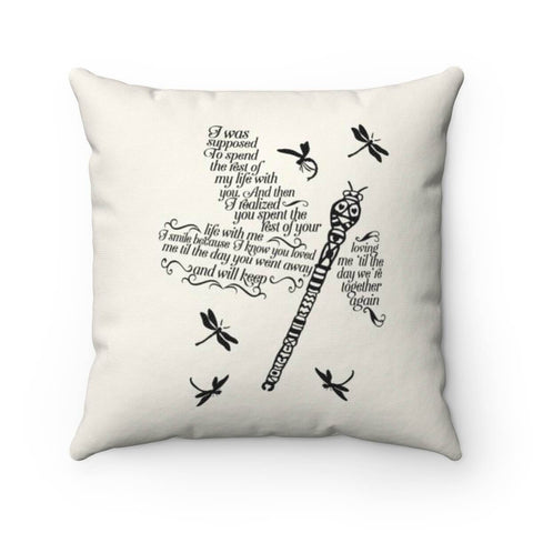 Dragonfly Heaven Poem - Pillow