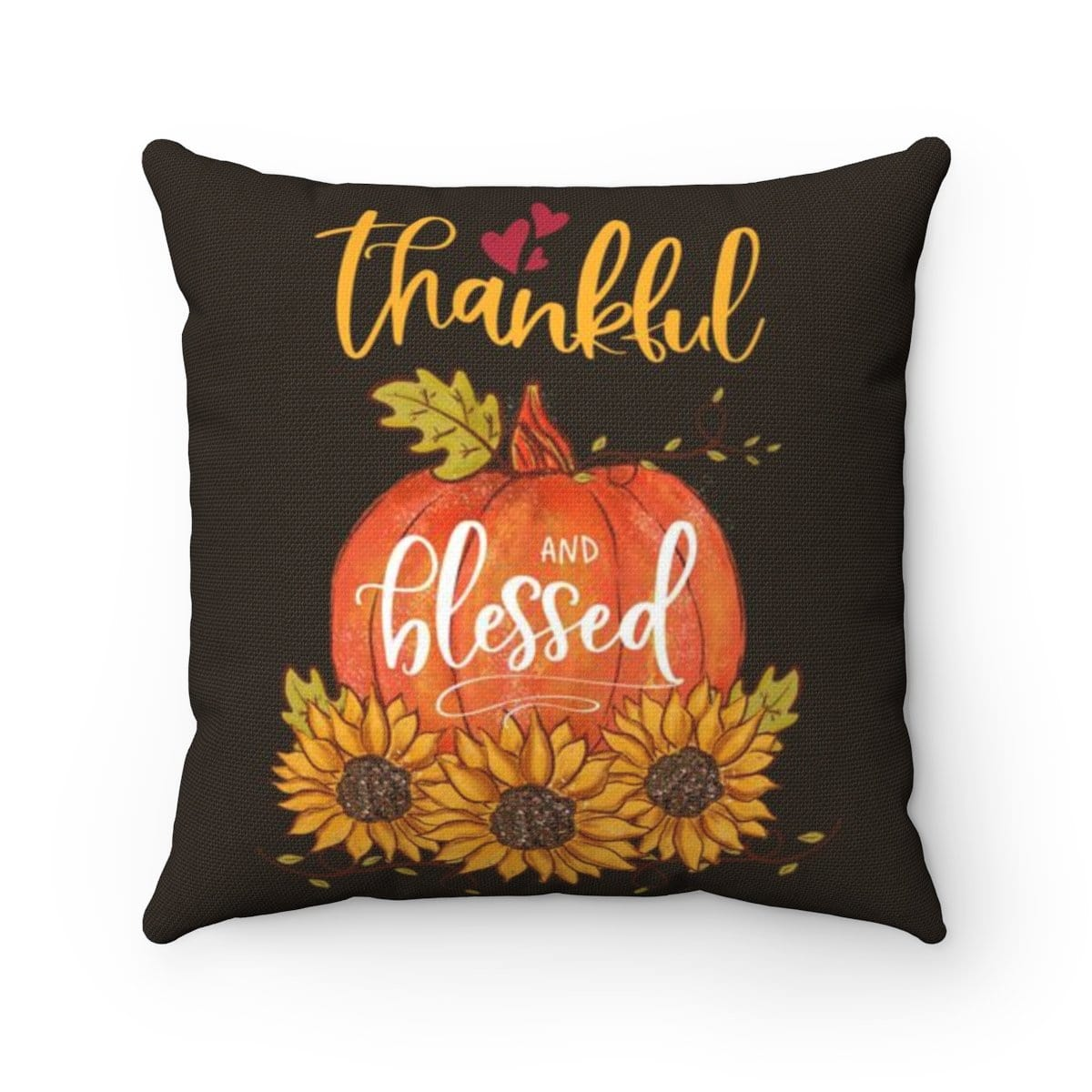 Thank and Blessed Brown Pillow