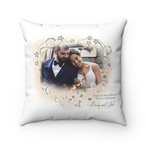 Every Love Story Is Beautiful Pillow - Personalized