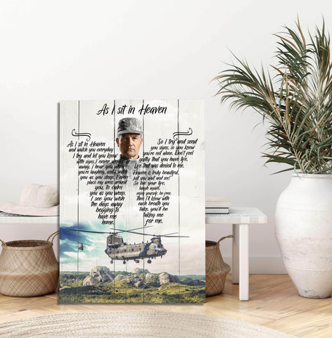 As I Sit In Heaven - Chinook Custom Canvas
