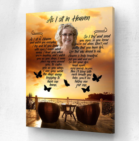 As I Sit In Heaven - Sunset Reflections Custom Digital Download