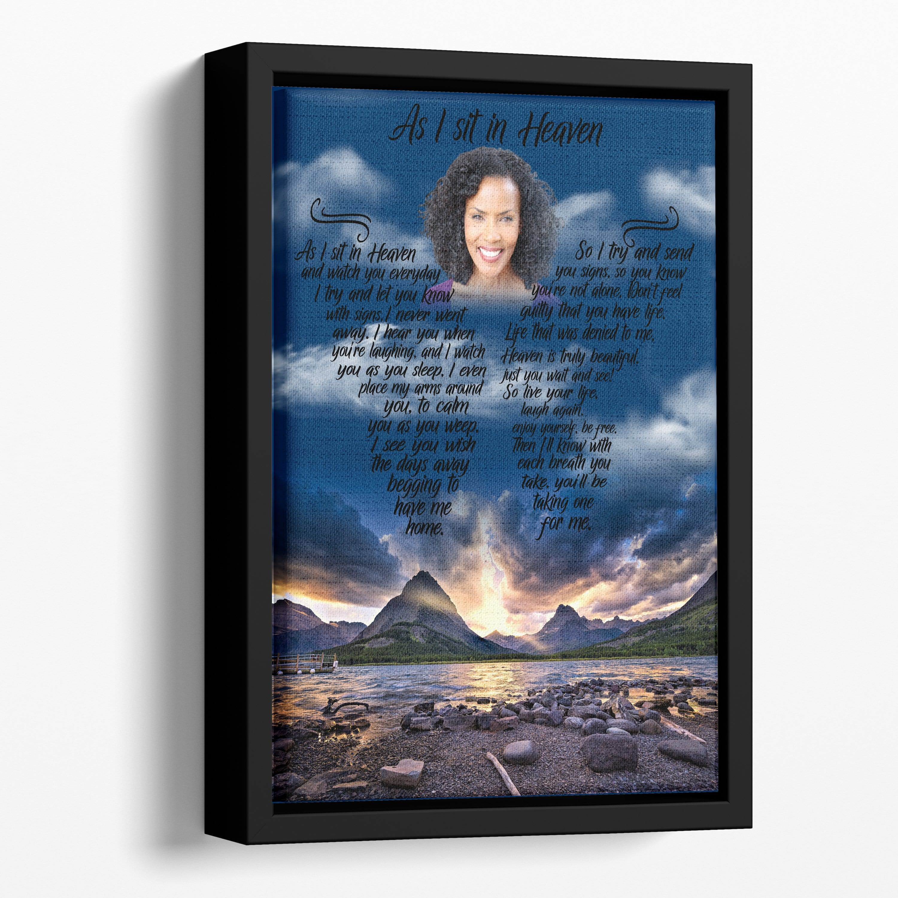 As I Sit In Heaven Rocky Shores Custom Canvas