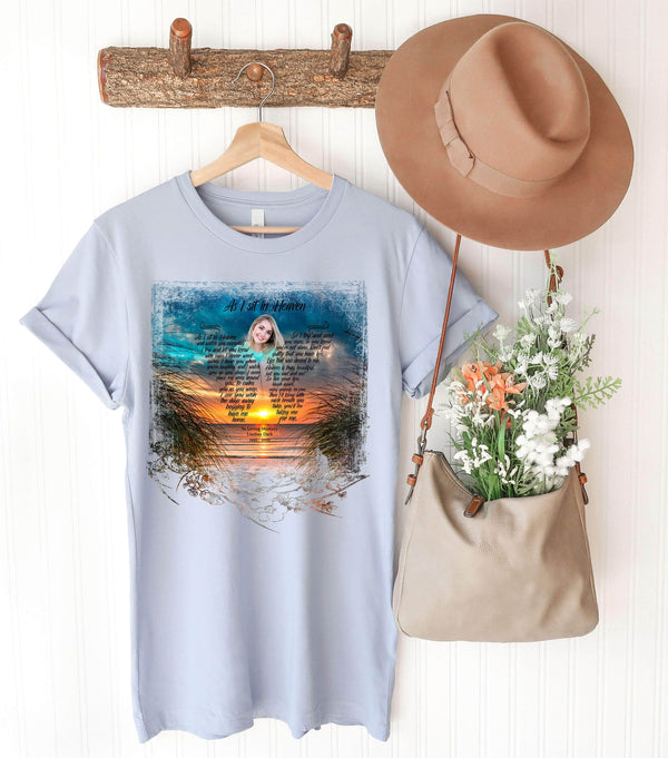 As I Sit In Heaven Sunset At The Beach Customized Tee