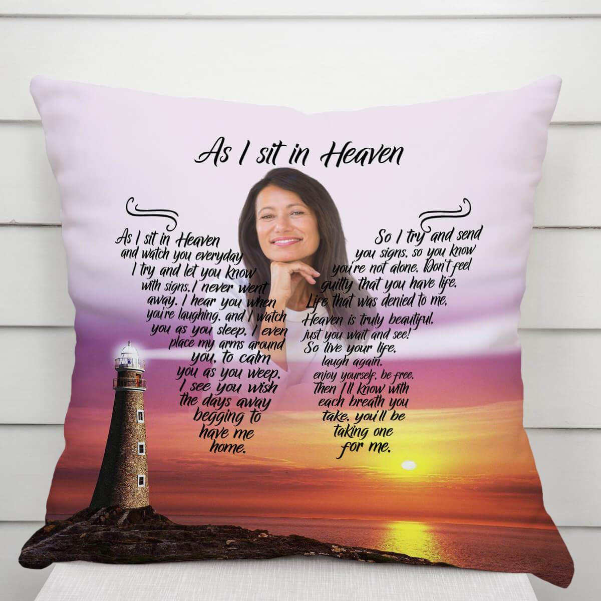 As I Sit In Heaven - Catch The Breeze Pillow
