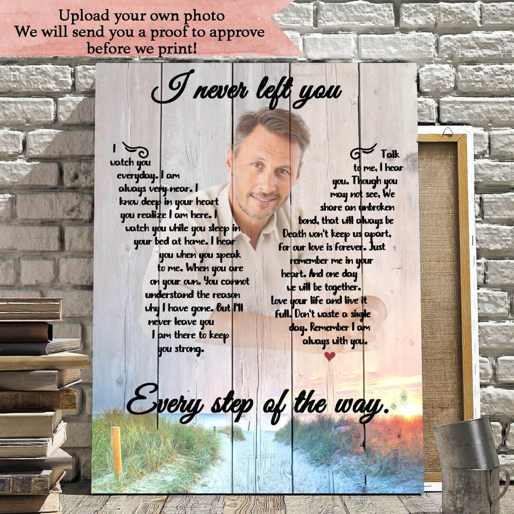 Preview Request I Never Left You Photo Upload - Personalized Canvas