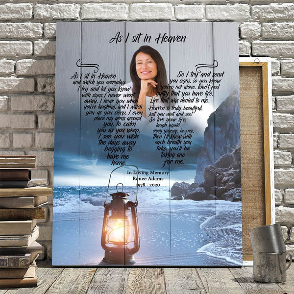 As I Sit In Heaven - Moonlight Heaven Custom Canvas