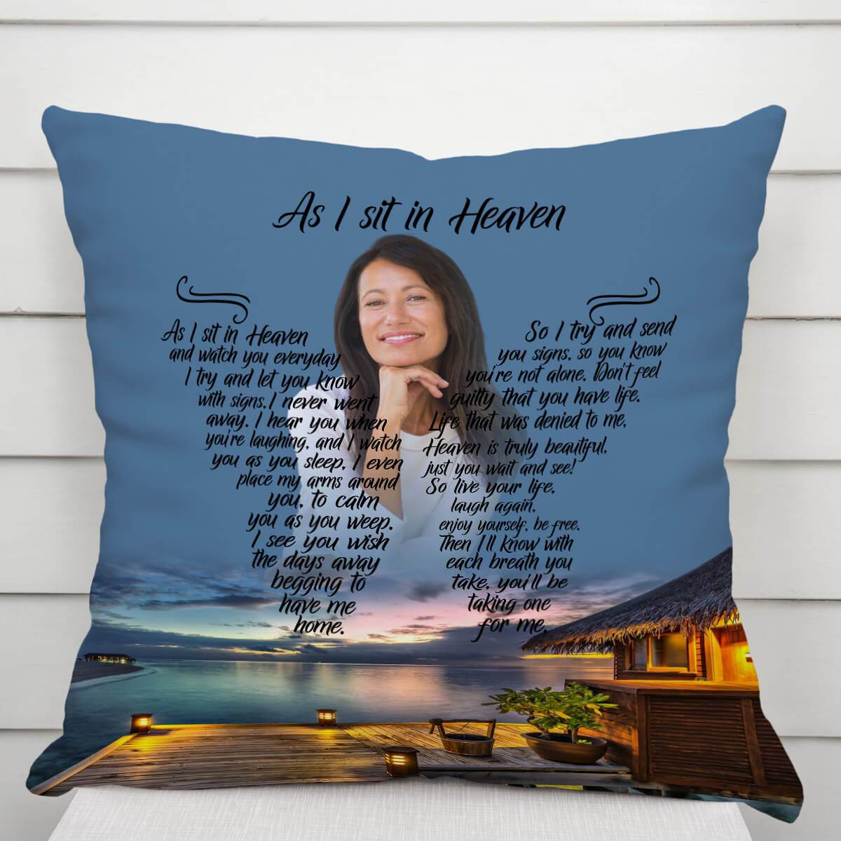 As I Sit In Heaven - Once Upon A Tide Pillow