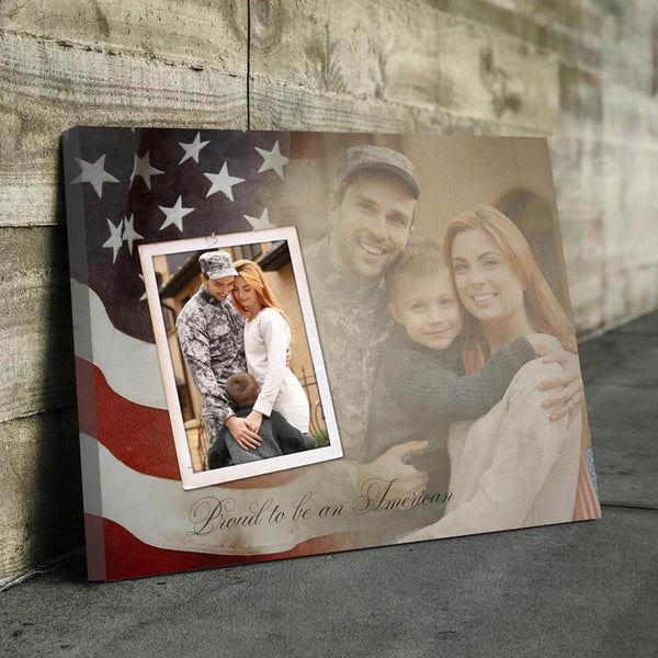 Proud To Be An American - Personalized Canvas