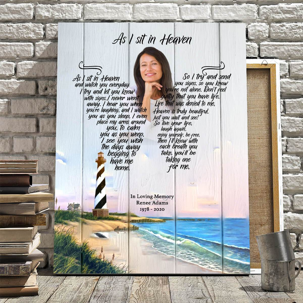 As I Sit In Heaven - Salt Water Retreat Custom Canvas