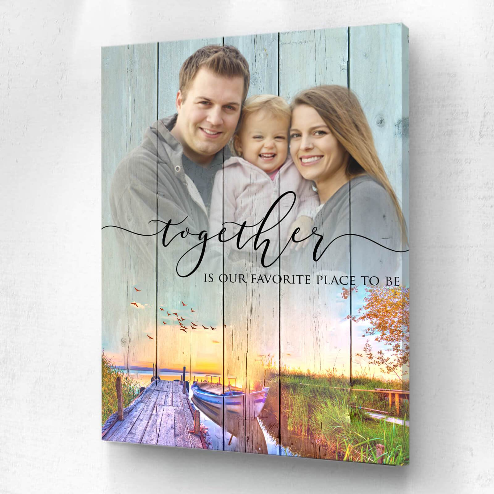 Together Is Our Favorite Place To Be Custom Photo Upload