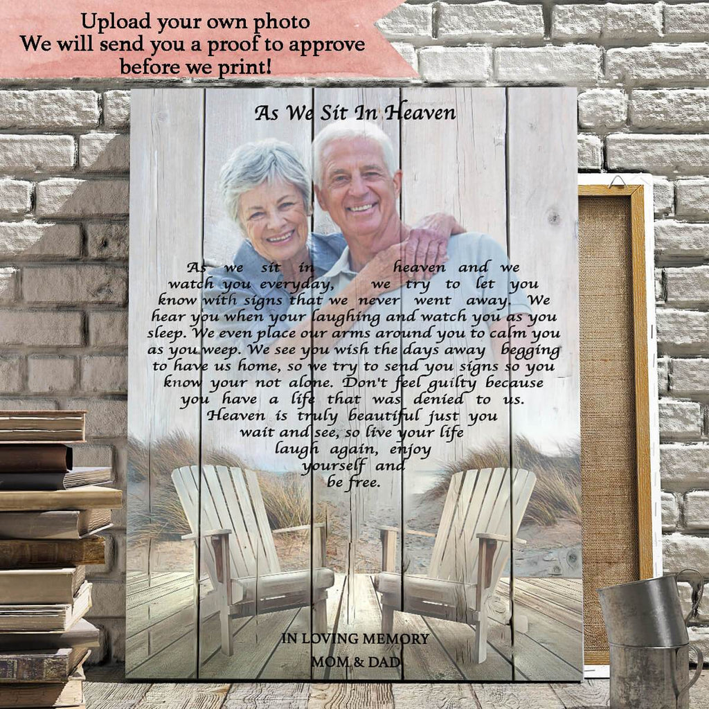 As We Sit In Heaven - Personalized Canvas