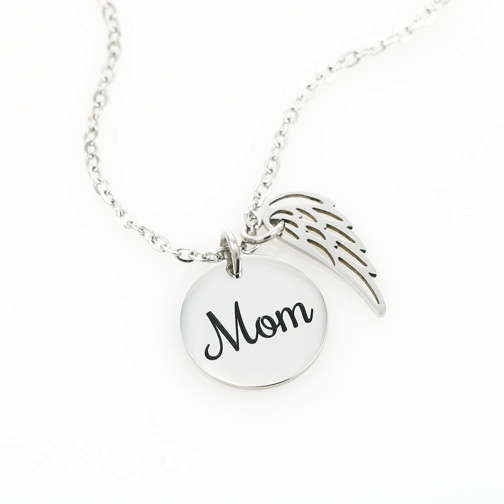 As I Sit In Heaven Sea Gem - Mom Remembrance Necklace