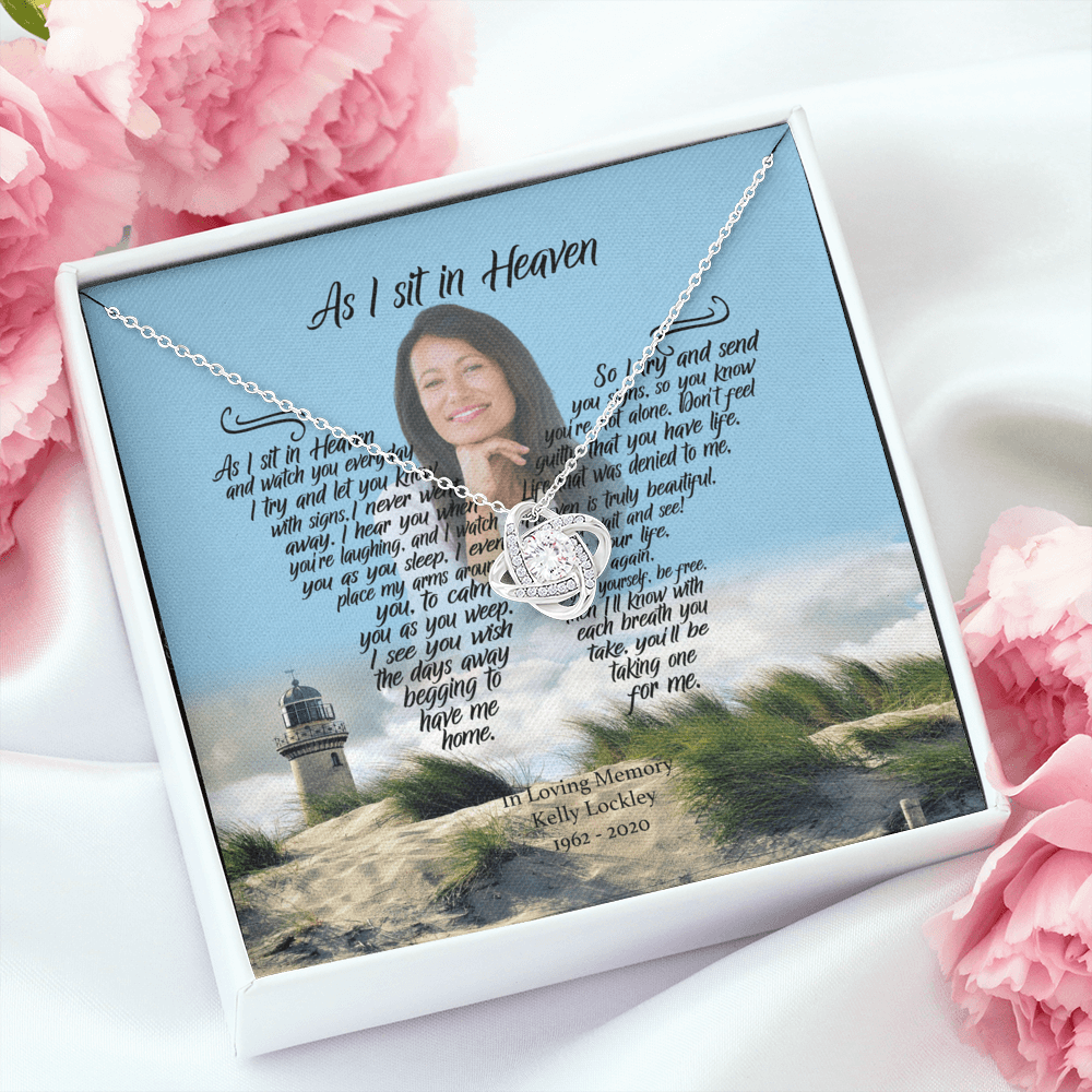 As I Sit In Heaven - 7th Heaven Customized Love Knot Necklace