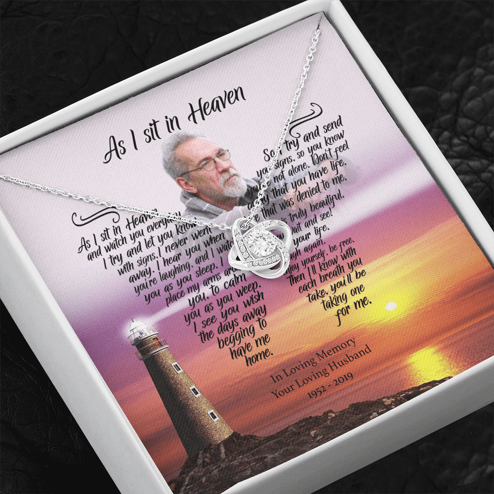 As I Sit In Heaven - Catch The Breeze Customized Love Knot Necklace