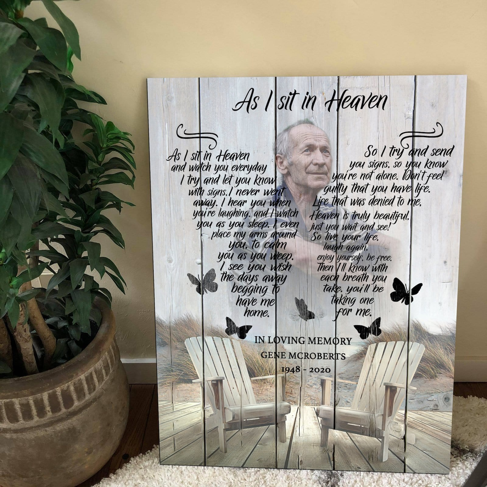 As I Sit In Heaven Memorial - Personalized