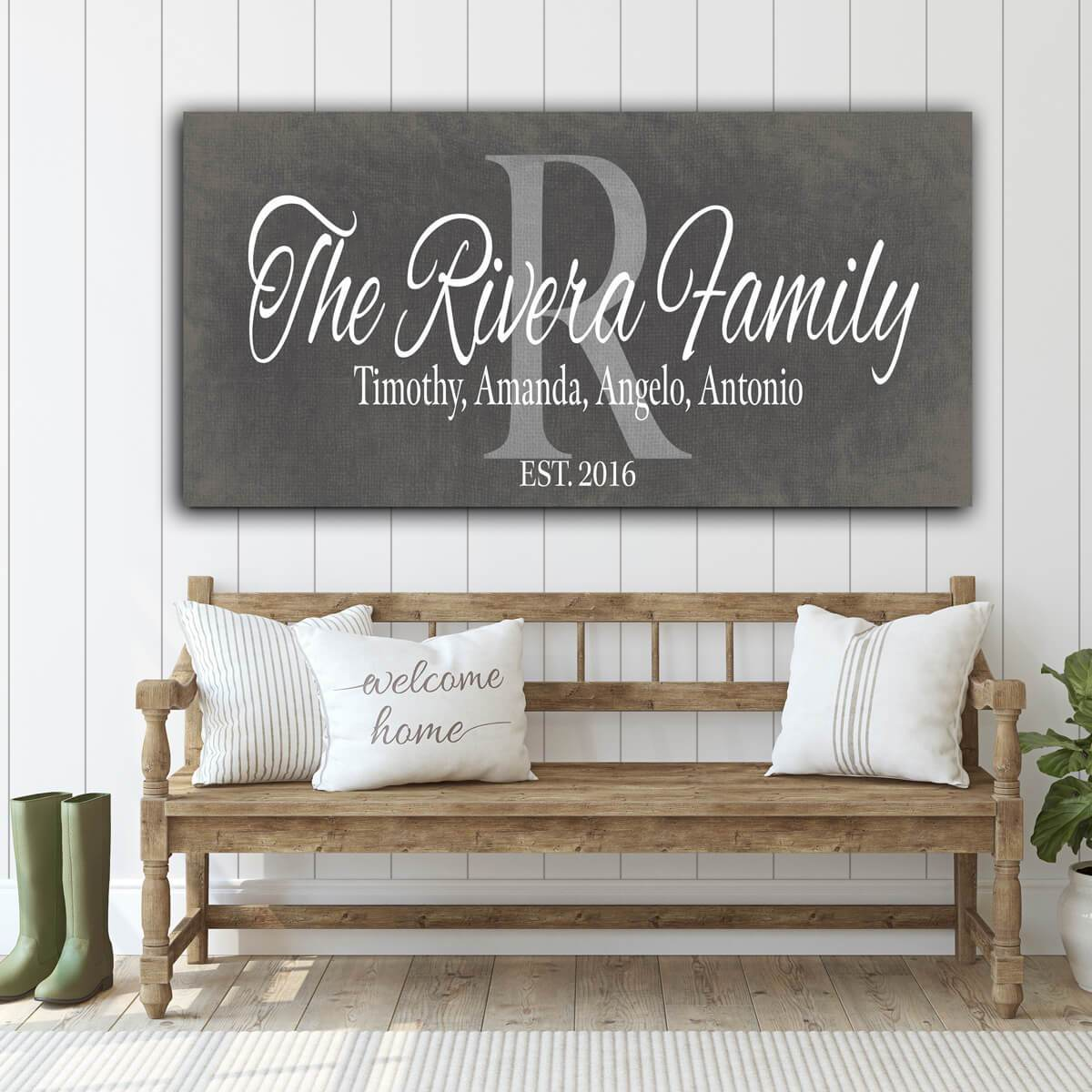Customized Family Name Gray - Personalized