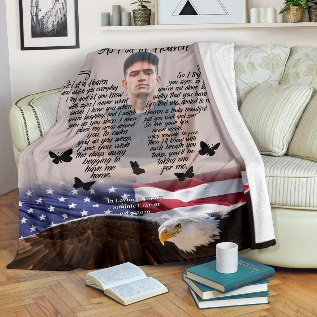As I Sit In Heaven Blanket - American Eagle