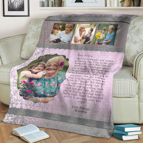 Hugs From Heaven Custom Blanket