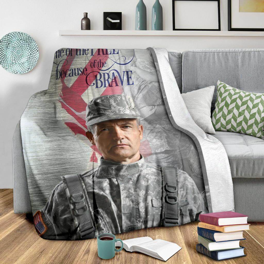 Home Of The Free Because Of The Brave Custom Blanket