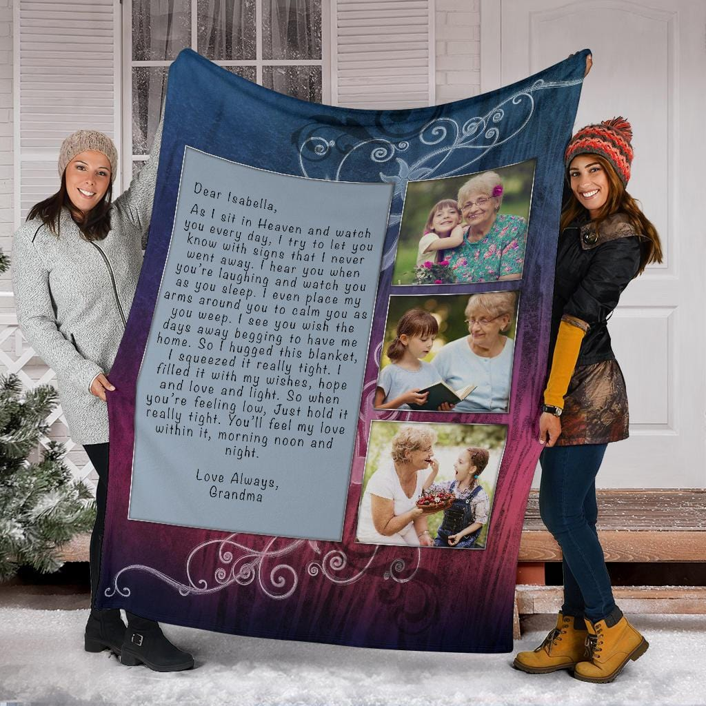 Hugs From Heaven - Sunset Blur Custom Blanket