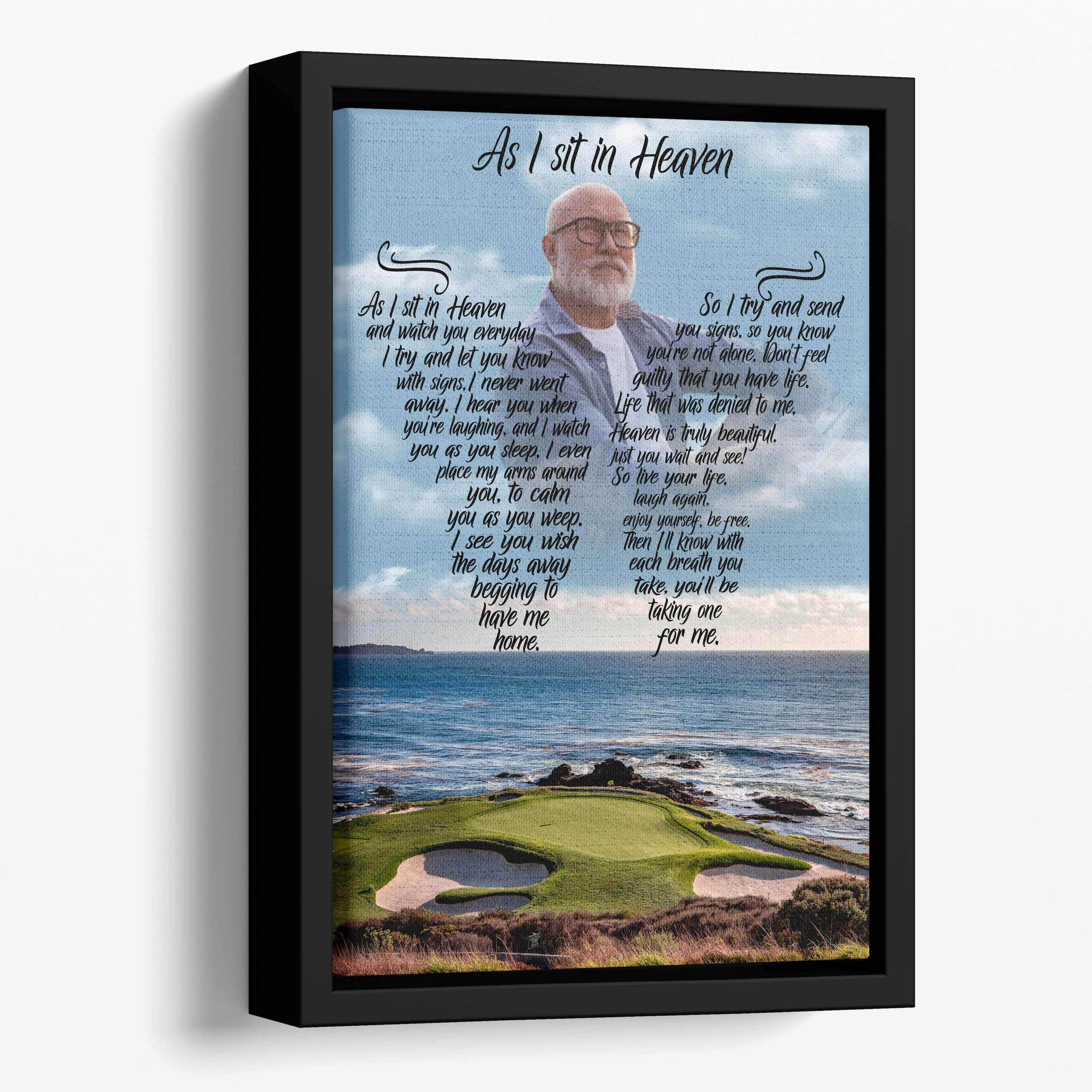 As I Sit In Heaven - Golfers Paradise  Custom Canvas