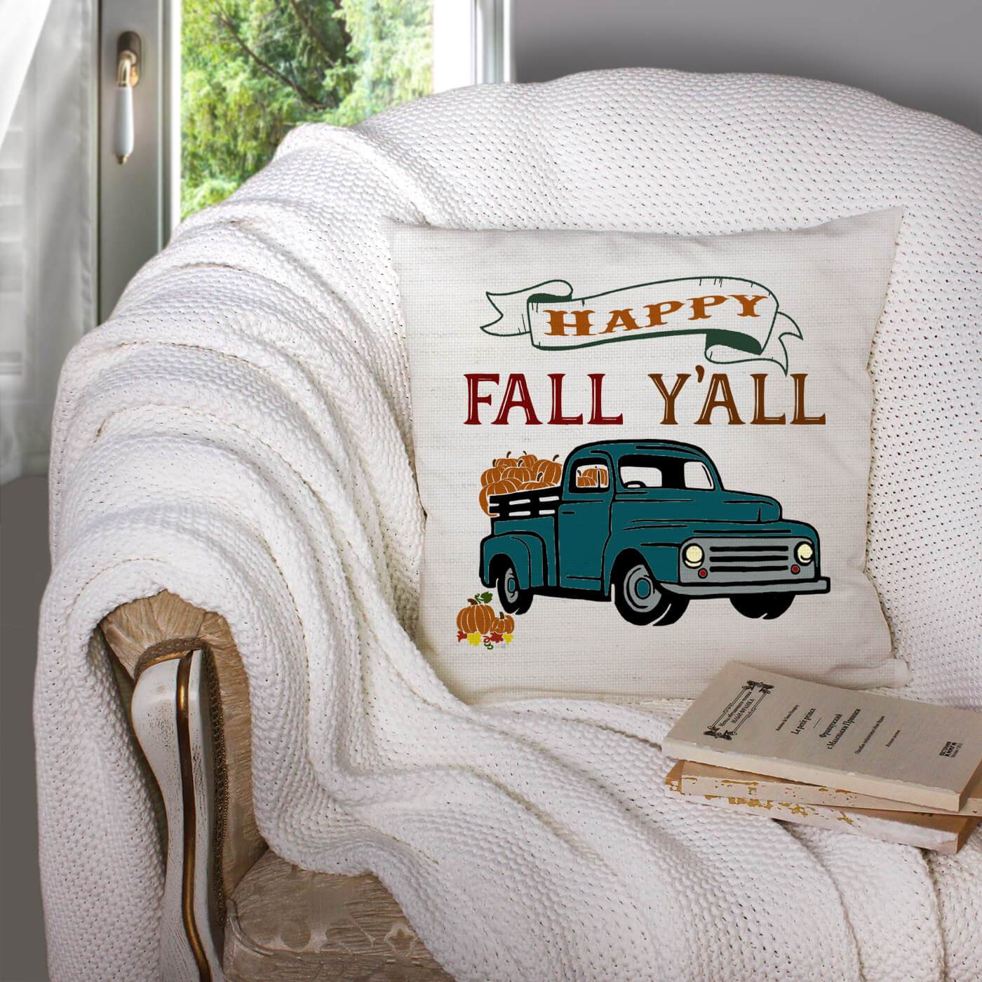 Happy Fall Y'All Pillow