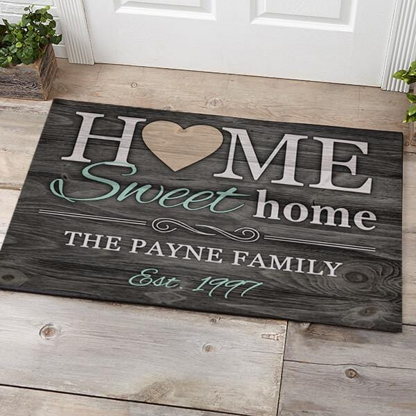 Home Sweet Home Personalized Name Doormat