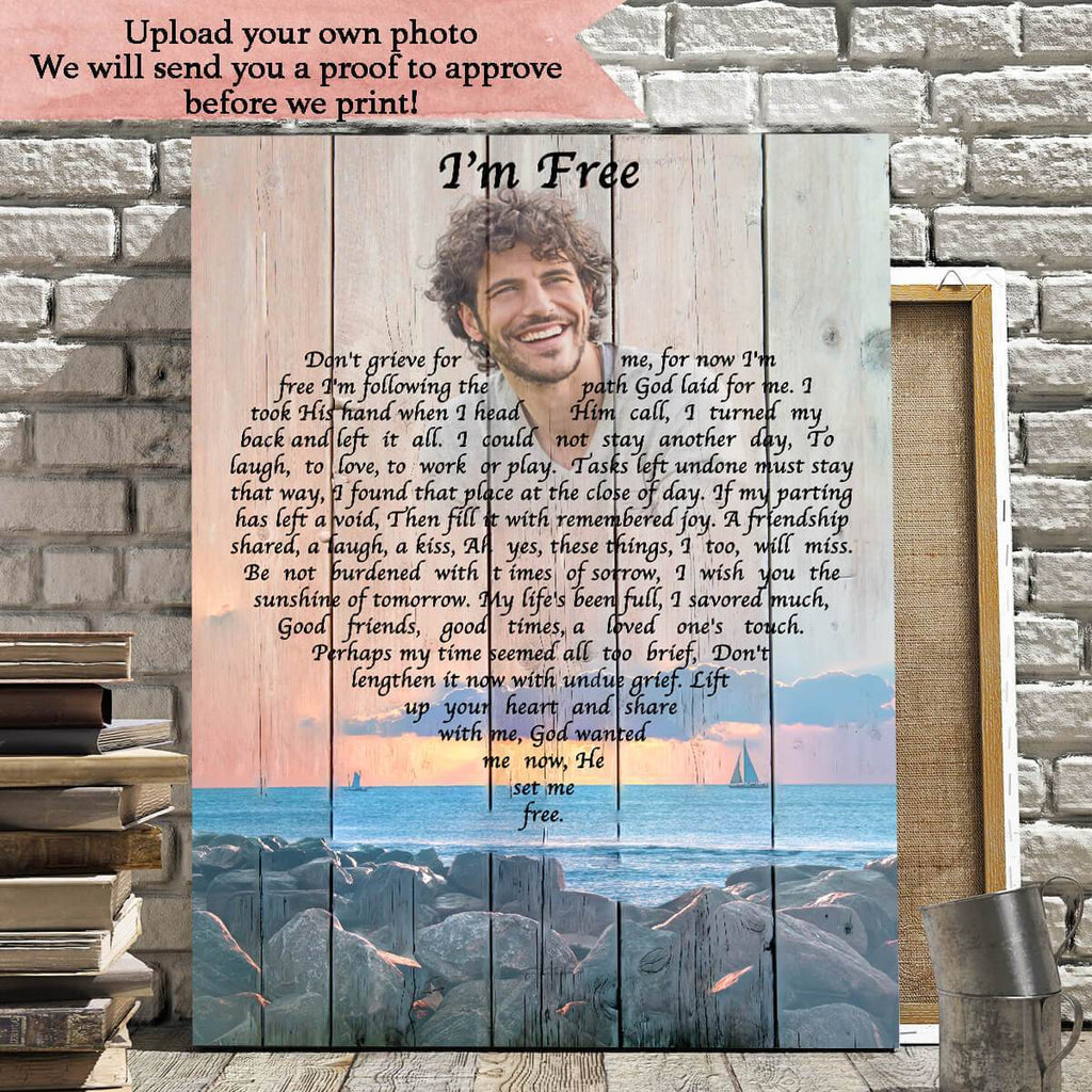 Preview Request  I'm Free - Personalized Canvas