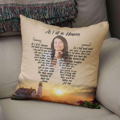 As I Sit In Heaven - Next Chapter Pillow