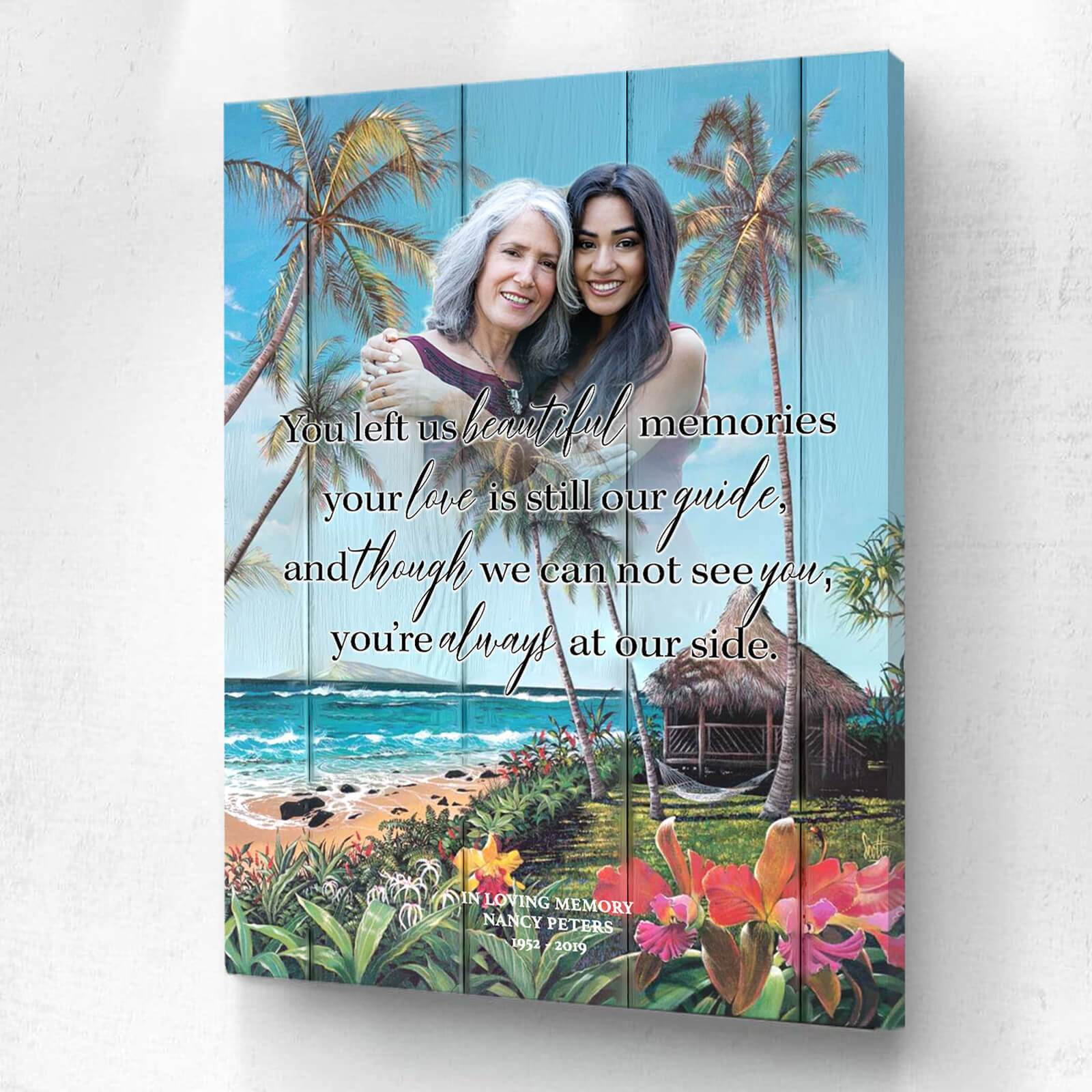 You Left Us Beautiful Memories - Seaclusion - Personalized Canvas