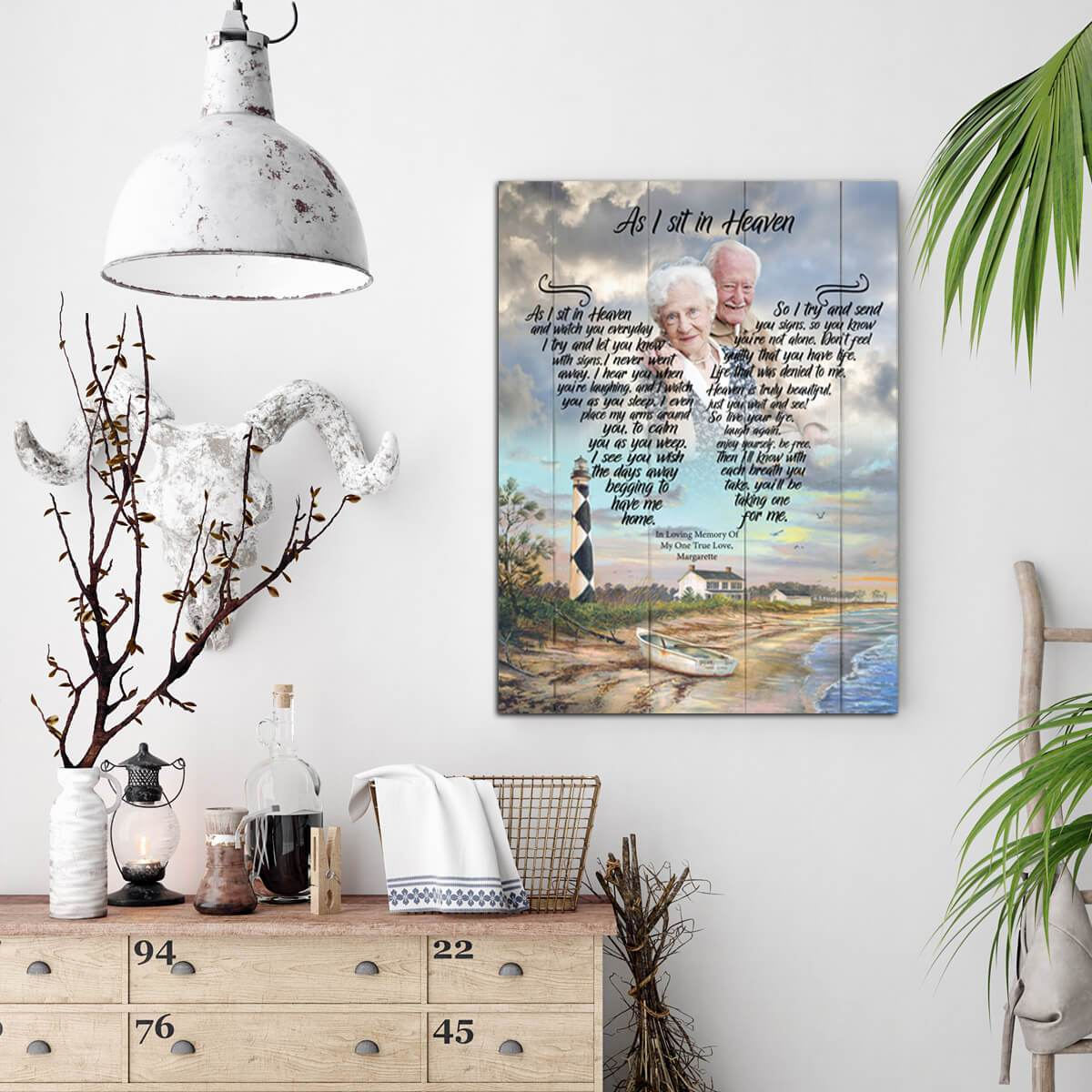 As I Sit In Heaven - Shorely Blessed - Personalized Canvas