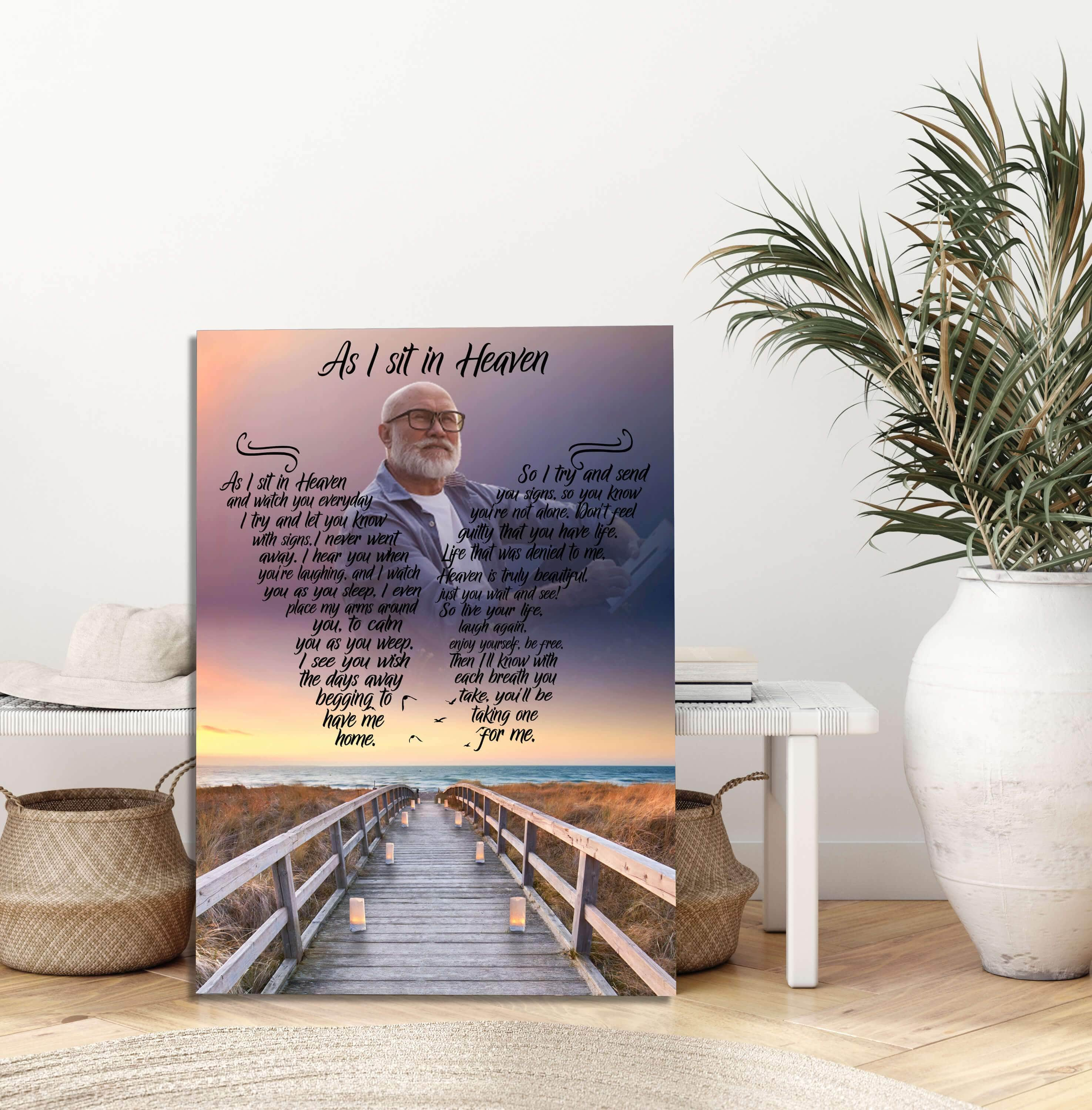 As I Sit In Heaven - Sea Duced Custom Canvas