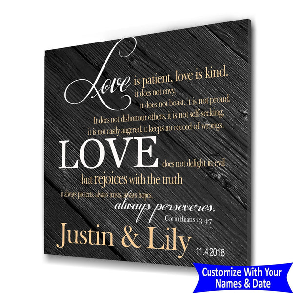 Love Is Patient Love Is Kind - Personalized