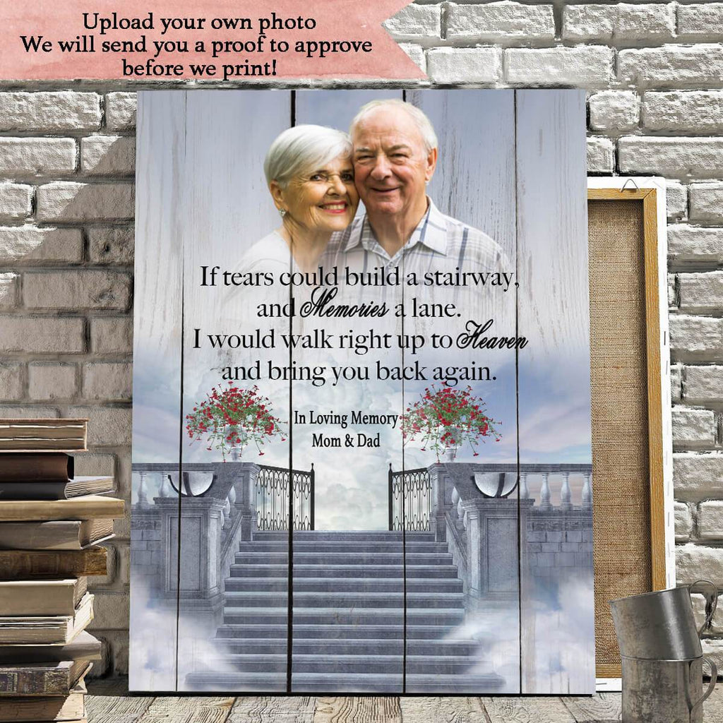 Preview Request If Tears Could Build A Stairway- Personalized Canvas