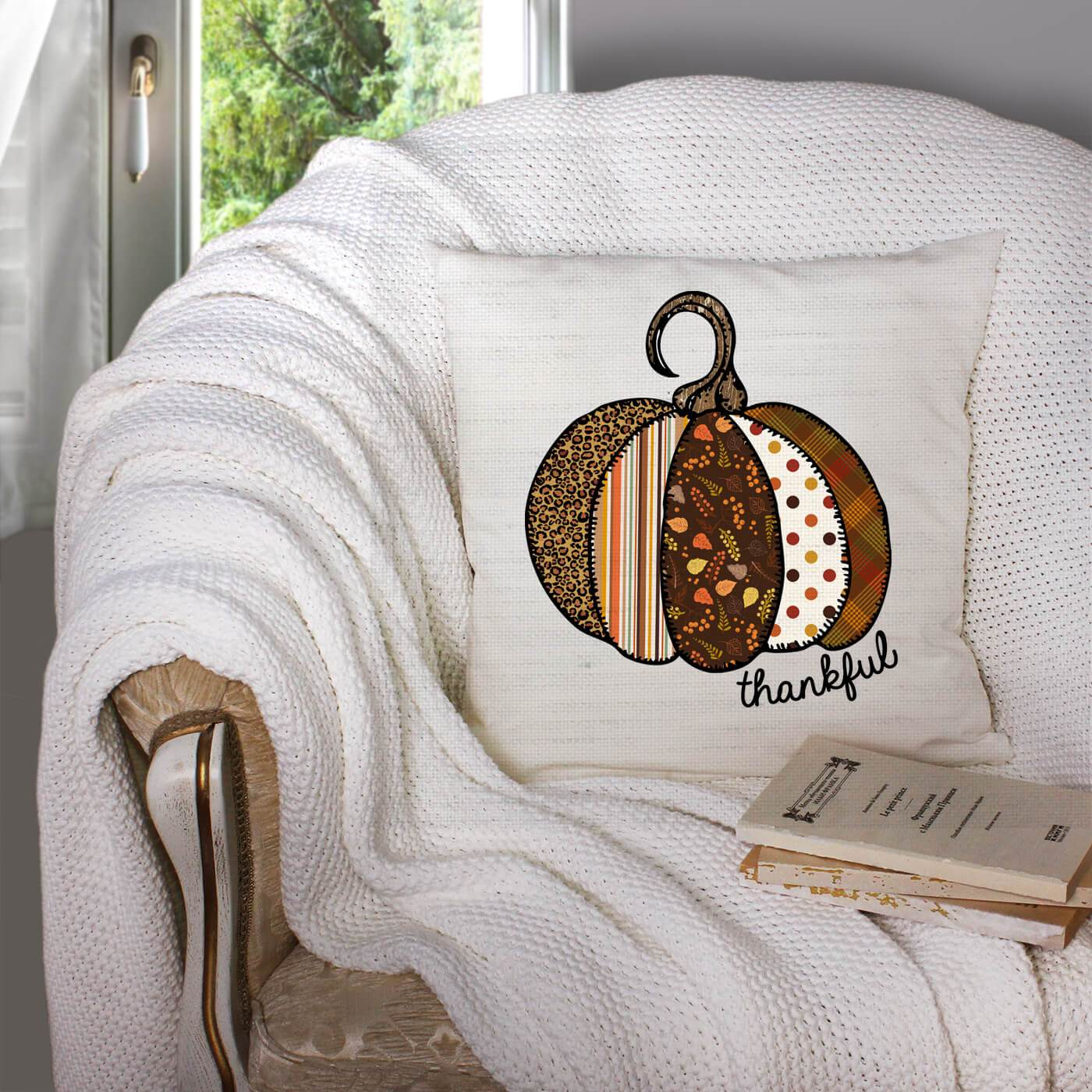 Thankful Pumpkin Pillow