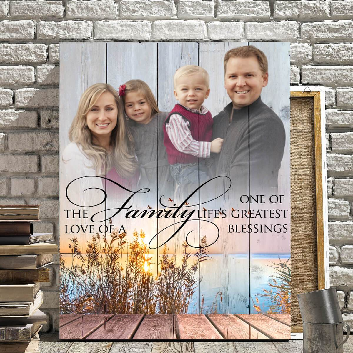 The Love Of A Family Custom Photo Upload