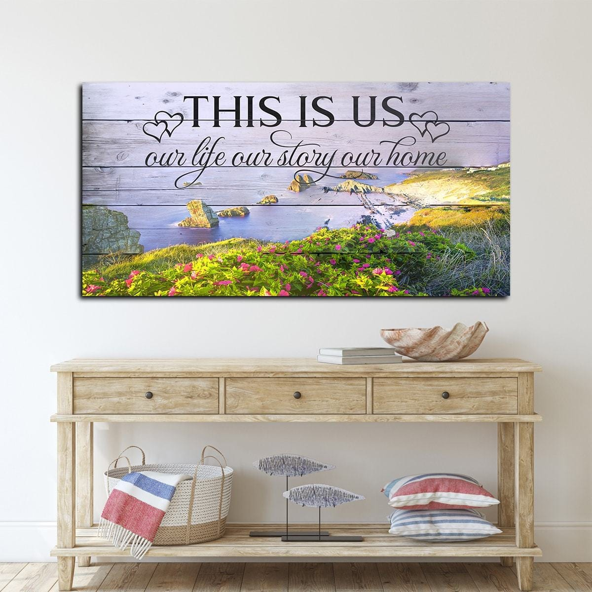 This Is Us Hawaiian Backdrop