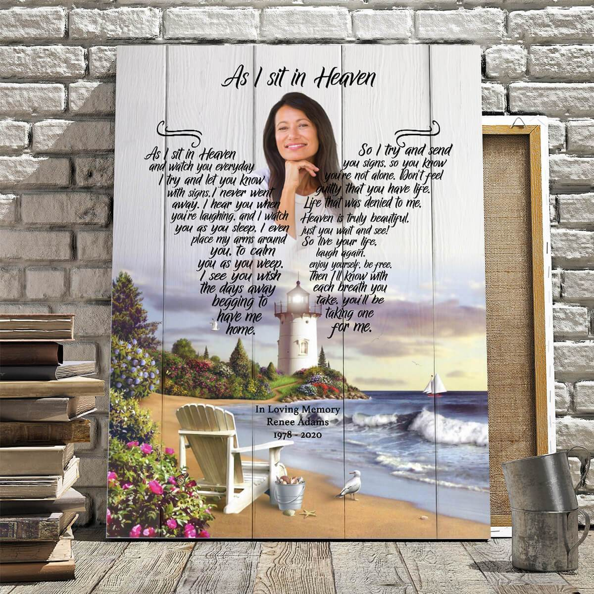 As I Sit In Heaven - Timeless Memories - Personalized Canvas