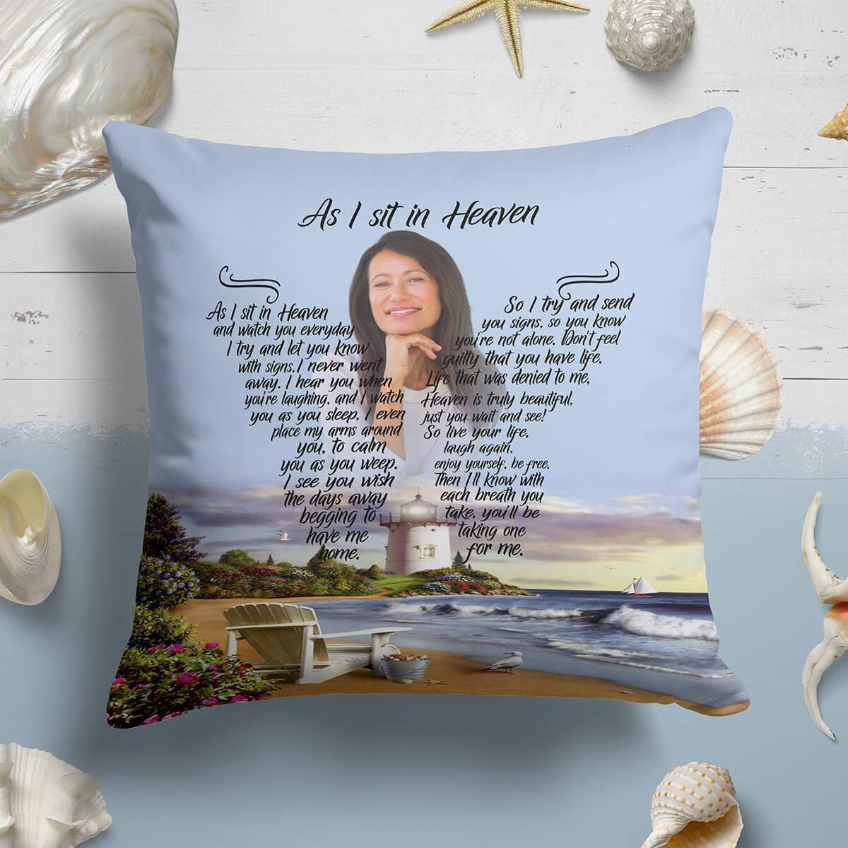 As I Sit In Heaven - Timeless Memories Pillow
