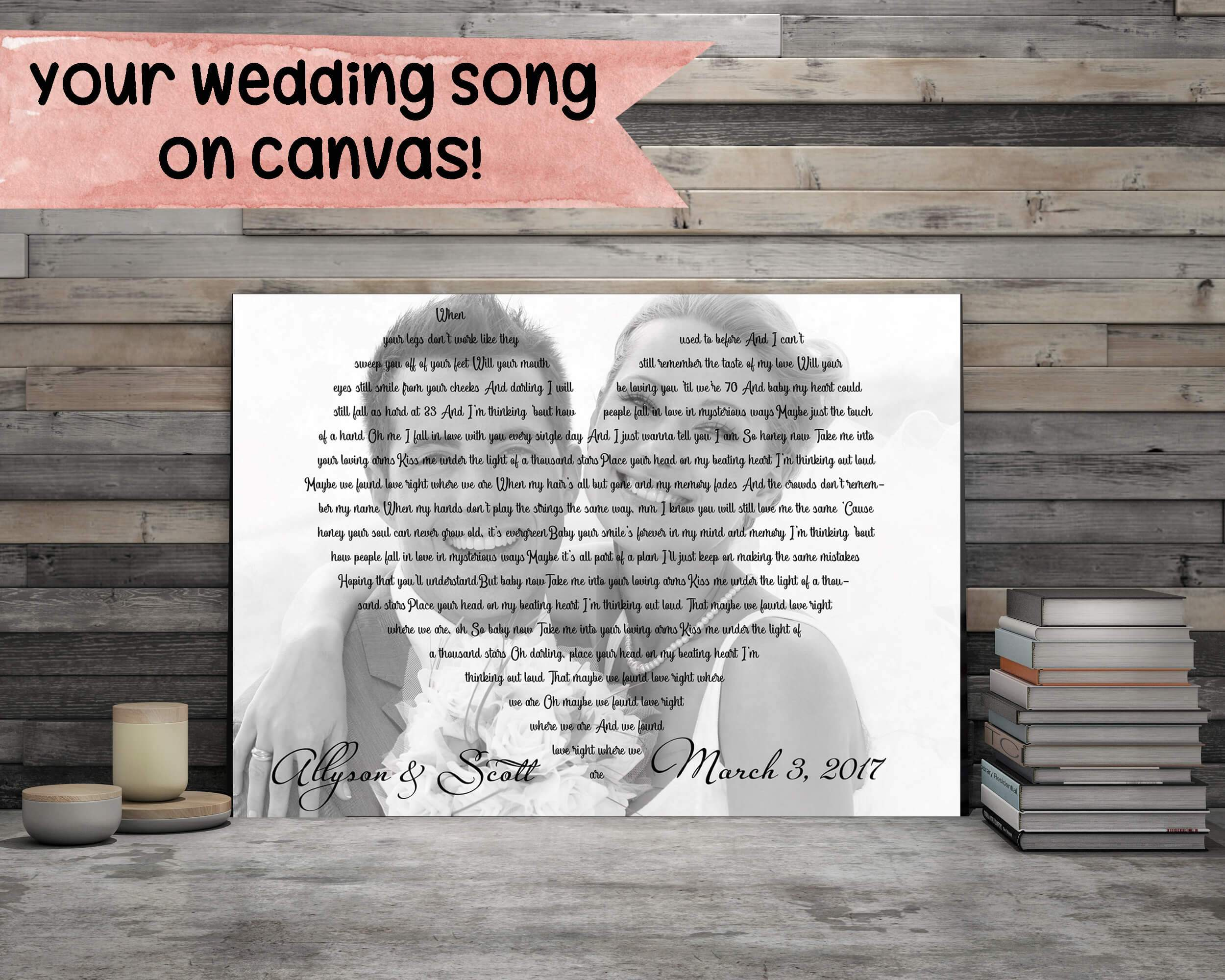 First Dance Lyrics With Custom Photo - Personalized