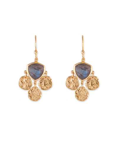 Bianc Lotus Earrings - Mocha