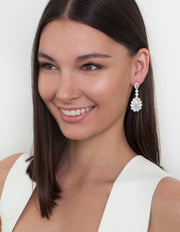 Bianc Fireball Drop Earrings w/ CZ - Mocha