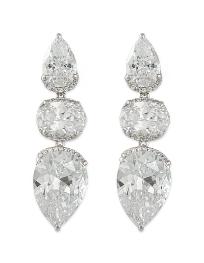 Bianc Light Year Earrings w/ Cubic Zirconia - Mocha