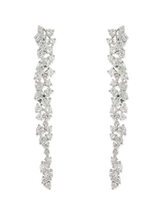Bianc Trillion Earrings w/ Cubic Zirconia - Mocha